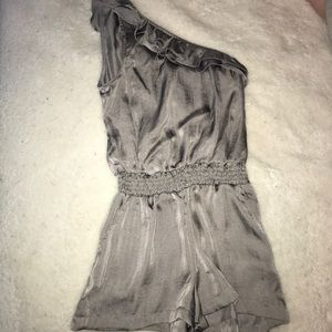 Gray Off the Shoulder Romper